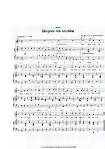 thumbnail of Bonjour ma cousine (score)