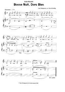 thumbnail of Bonne Nuit dors bien (score)
