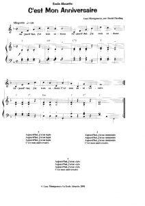 thumbnail of C'est mon Anniversaire (score)