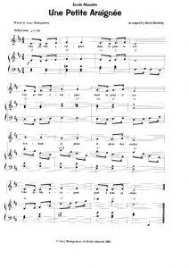 thumbnail of Une Petit Araignee (score)