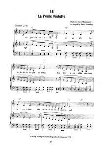 thumbnail of La Poule Violette (score)